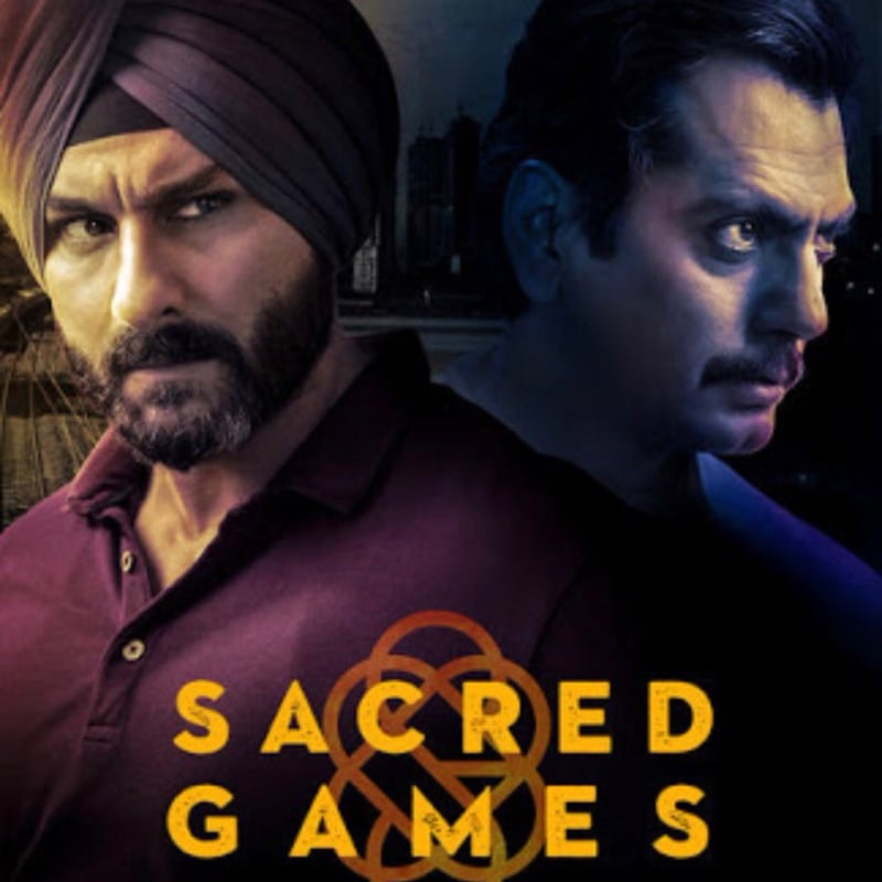 Official poster for Sacred Games