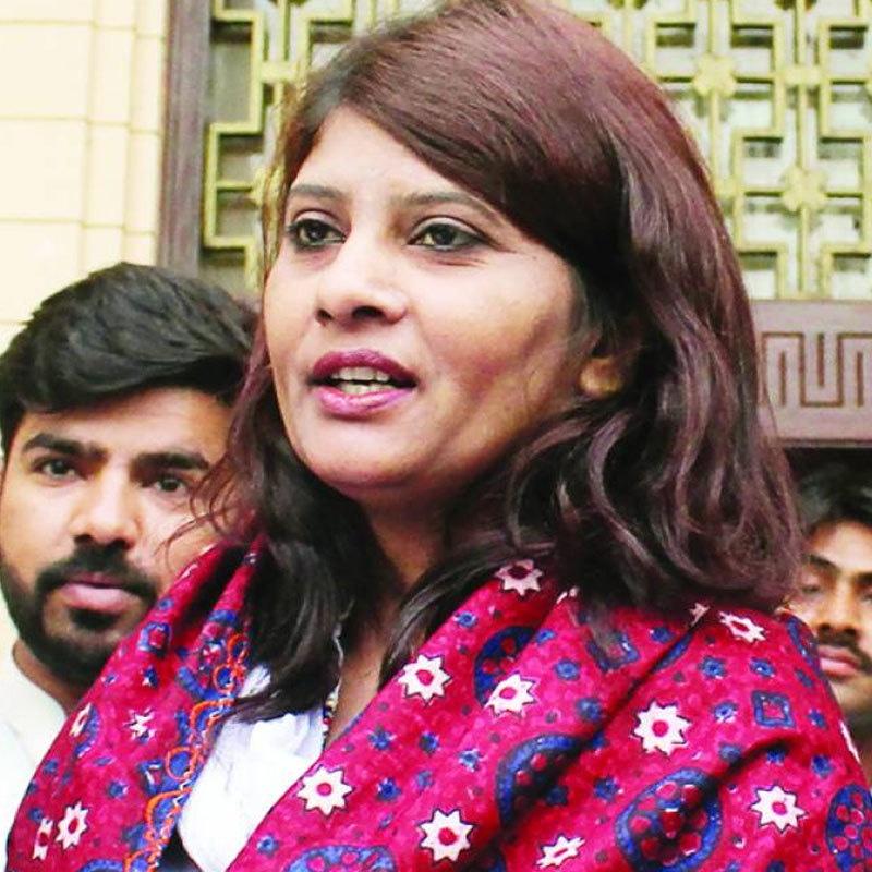 کرشنا کماری مارچ 2018 میں پہلی ہندو سینیٹر بنی تھیں—فوٹو: ٹوئٹر