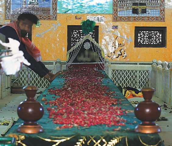 Interior view of the shrine with the nau-gaza grave