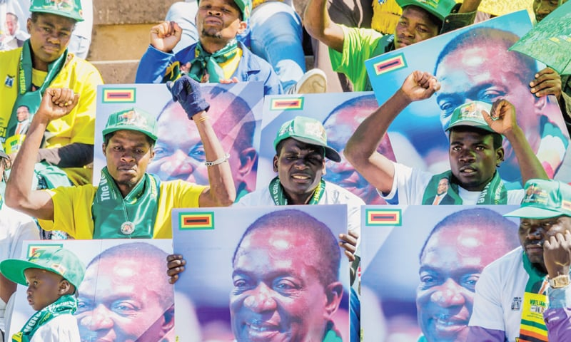 Zimbabwe rallies one last time before historic election