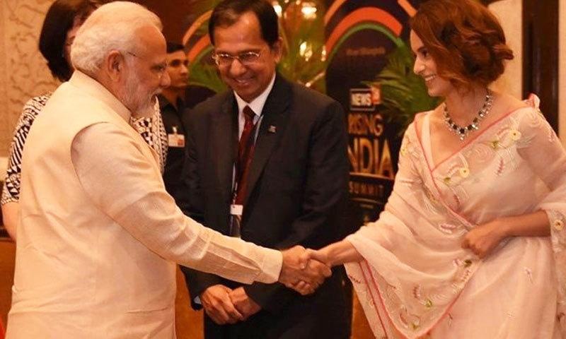 ادکاارہ نے نریندر مودی کو جمہوریت کے لیے بہترین شخص قرار دیا—فائل فوٹو: انڈیا ٹی وی