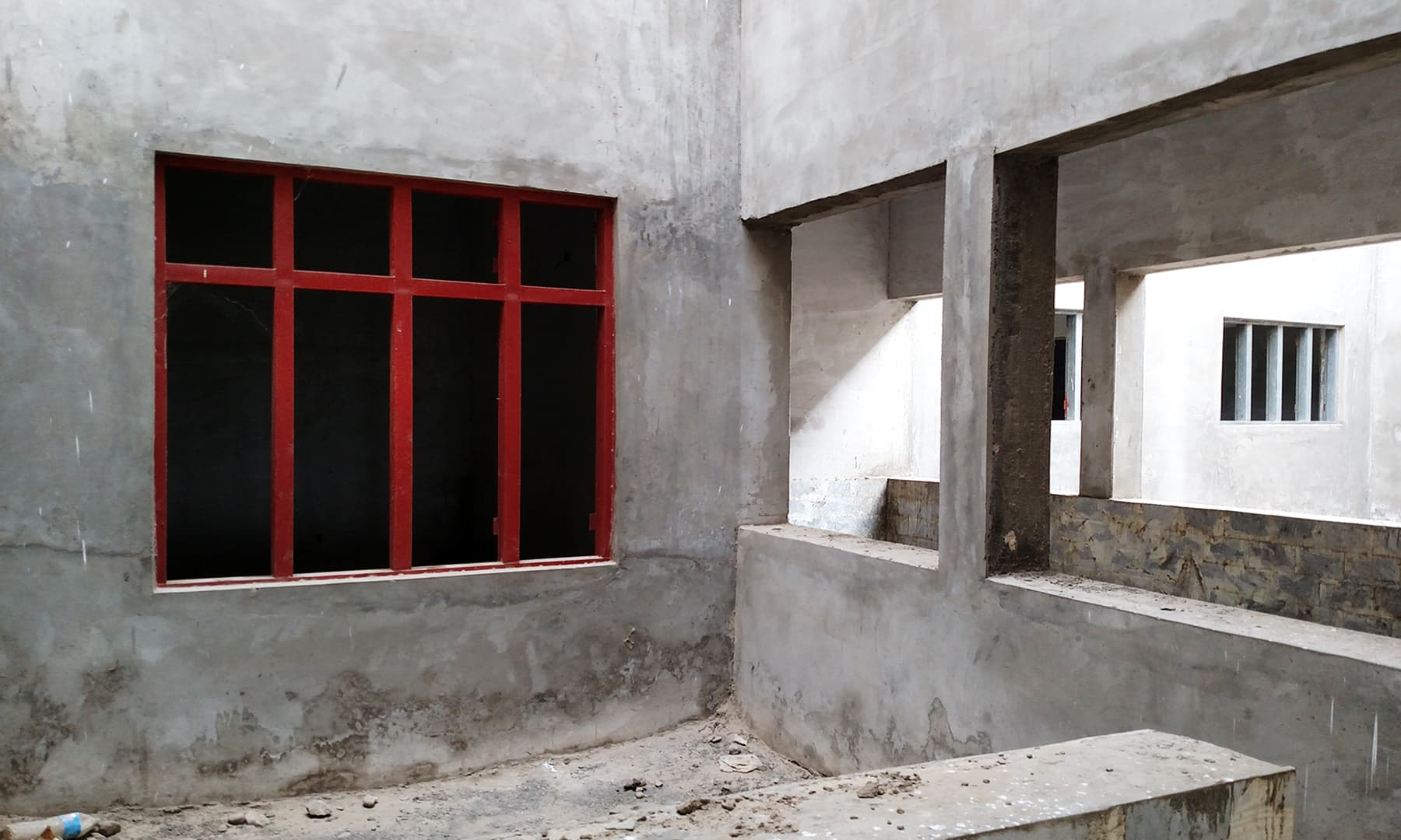 عمارت کا ایک زیرِ تعمیر حصہ۔— بلال کریم مغل