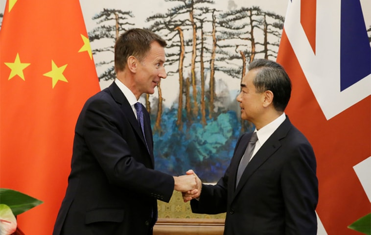 China and United Kingdom reaffirm willingness to strengthen ties
