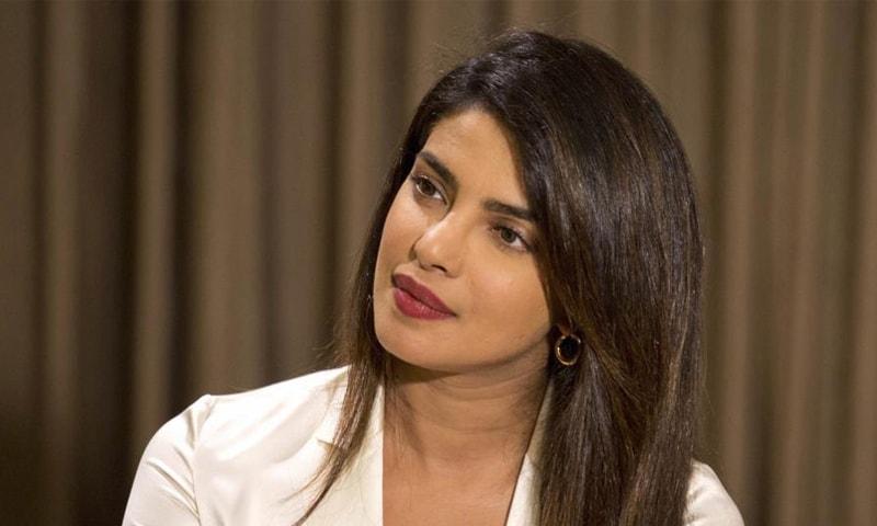 بولی وڈ اداکارہ پریانکا چوپڑا —۔