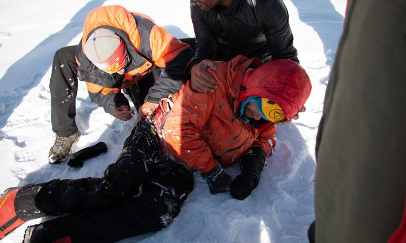 Russian climber Alexander Gukov was stranded on Biafo Glacier's Latok Top since July 25. ─ Photo courtesy ISPR