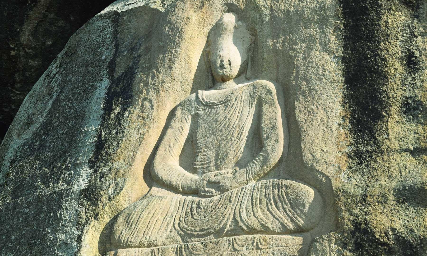 مجسمہ کی مسخ شدہ صورت—تصویر امجد علی سحاب
