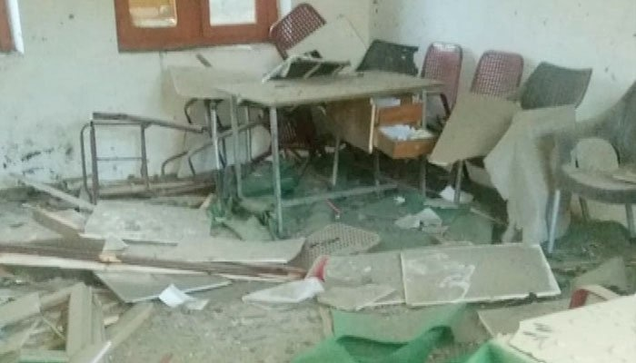 Some of the schools appear to also have been vandalised. ─ Photo courtesy Geo News