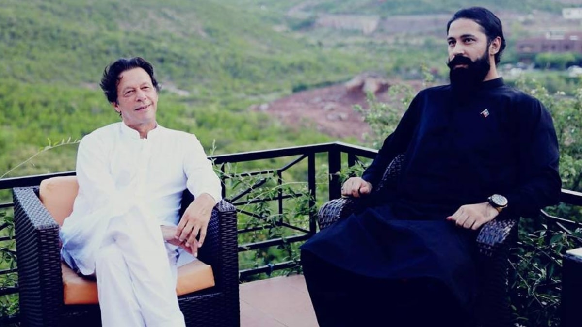Abbas pictured here with PTI chairman, Imran Khan