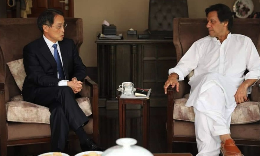Japanese envoy congratulates Imran Khan on election performance at Banigala meeting