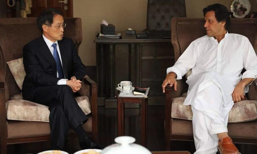 Japanese envoy congratulates Imran Khan on election performance at Banigala meeting