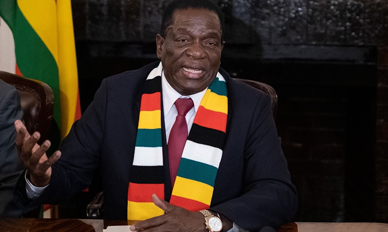 Zimbabwe president defends 'fair' election as opposition cries foul