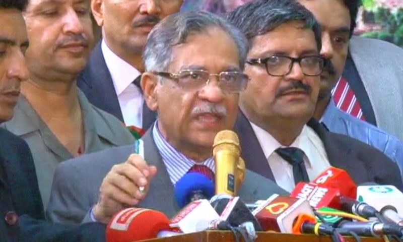 CJP says burning schools in Diamer was a 'conspiracy' against his dams initiative