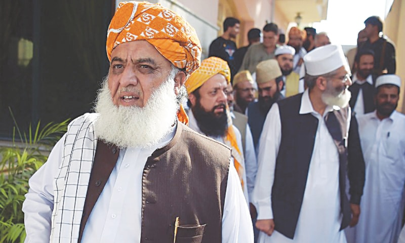 Maulana Fazlur Rahman is president of the Muttahida Majlis-i-Amal, a coalition which ruled the then North-West Frontier Province during Gen Pervez Musharraf's regime. Afzal's short synopsis of the party's rule leaves one wanting more | Dawn file photo