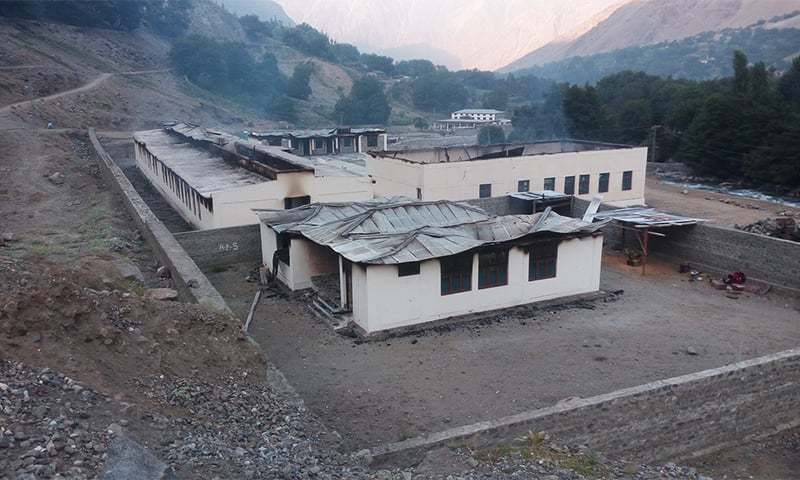 Another girls school torched in Diamer