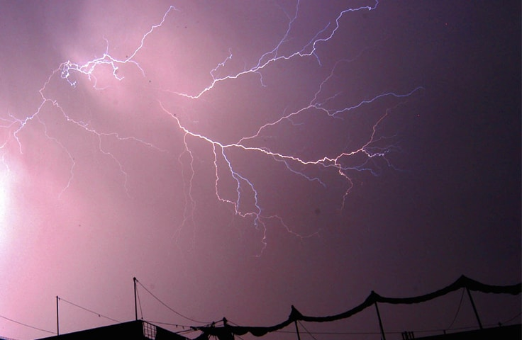 A flash of lightening seen in Lahore skies | M. Arif/White Star