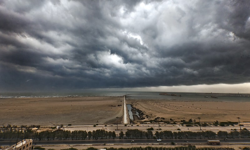 Dramatic skies form ahead of a rainshower in Karachi | Khaula Jamil