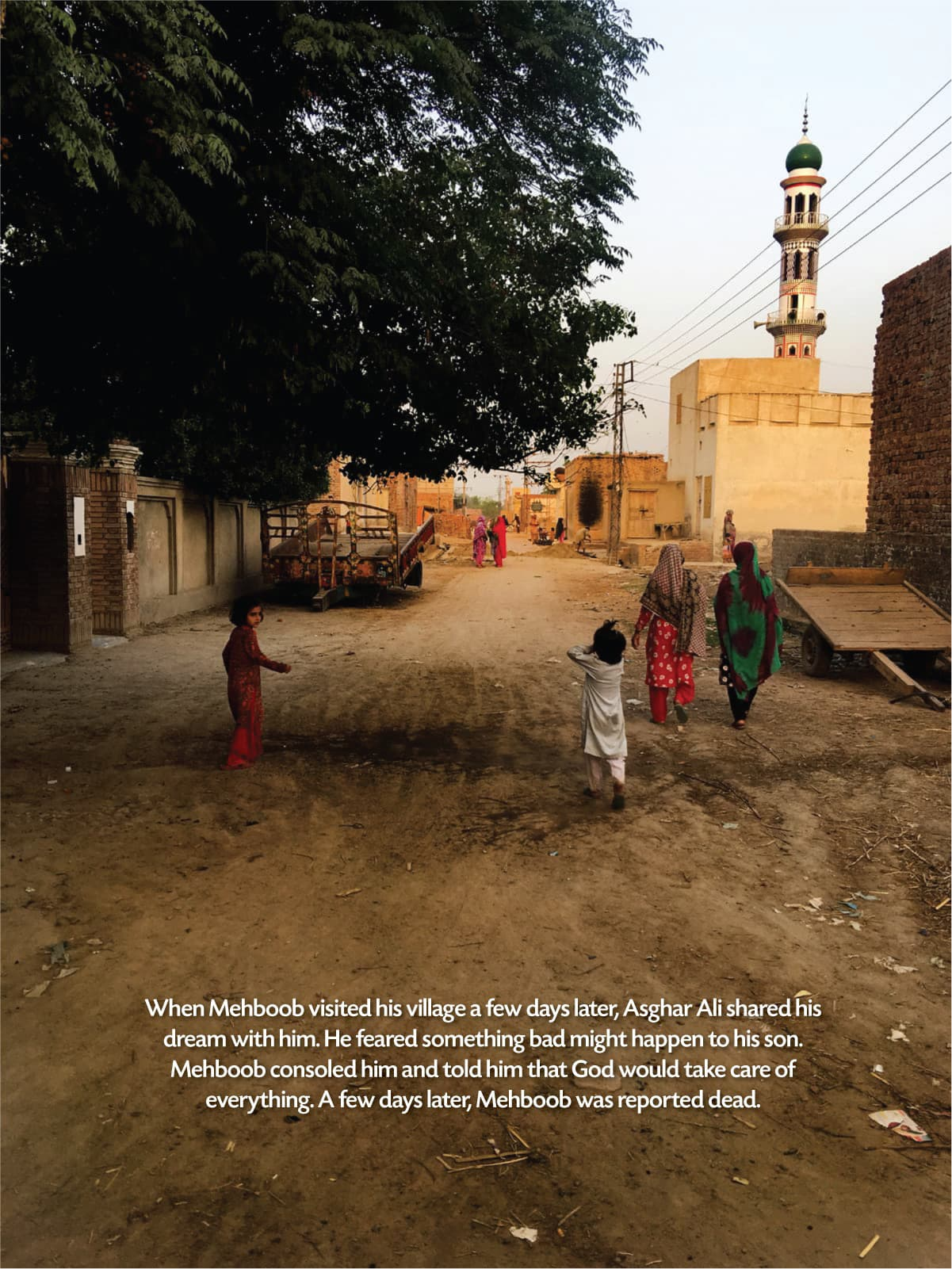 Aqsan Mehboob's younger sisters and cousins take a stroll around their village in Okara | Subuk Hasnain