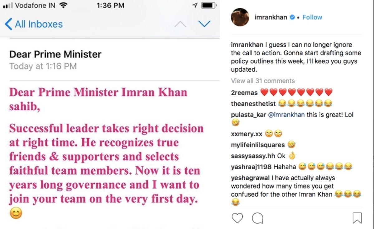 foto de Bollywood actor Imran Khan keeps getting mistaken for politician Imran Khan Celebrity Images