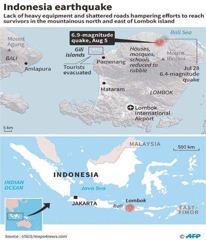 New aftershock pummels traumatized Indonesian island of Lombok as death toll climbs