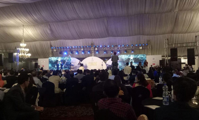پی سی ایوارڈز تقریب کراچی کے مقامی ہوٹل میں ہوئی—فوٹو:پی سی بی
