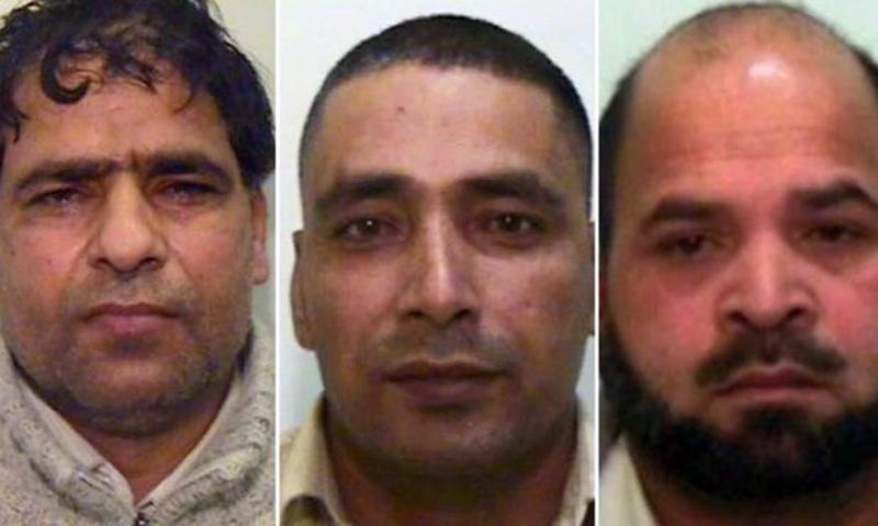 (Left to right) Abdul Aziz, Adil Khan and Qari Abdul Rauf. Photo courtesy: BBC/UK police