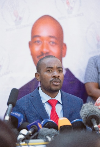 ZIMBABWE'S Opposition party Movement for Democratic Change leader Nelson Chamisa faces many questions after losing the presidential election.—AFP