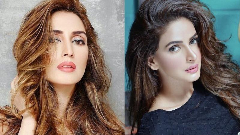 پاکستانی اداکارہ صبا قمر اور ایمان علی ، فوٹو اسکرین شاٹ