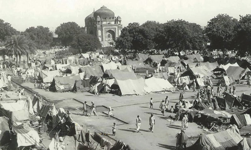 A camp for displaced Indian Muslims next to Emperor Humayun's Tomb in New Delhi, during the period of unrest following the partition of India and Pakistan; for many refugees, the camps were another chapter of horror | AFP