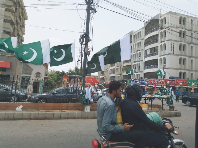 The final product flies proudly in the streets of Karachi