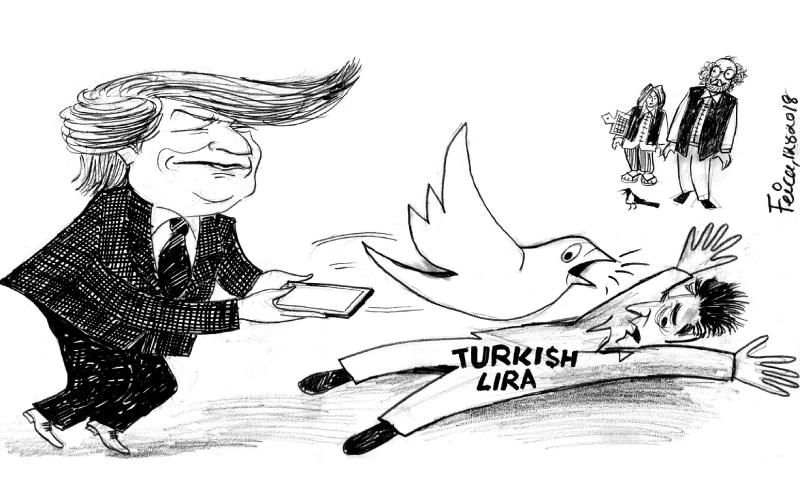 12 اگست 2018 کو ڈان اخبار میں شائع ہونے والا کارٹون — فیکا