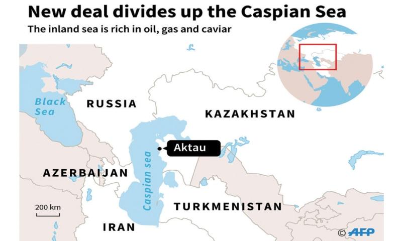 World Map Caspian Sea.Caspian Sea Nations Sign Landmark Deal Newspaper Dawn Com