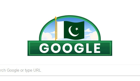 A Google doodle celebrating Pakistan's independence day.