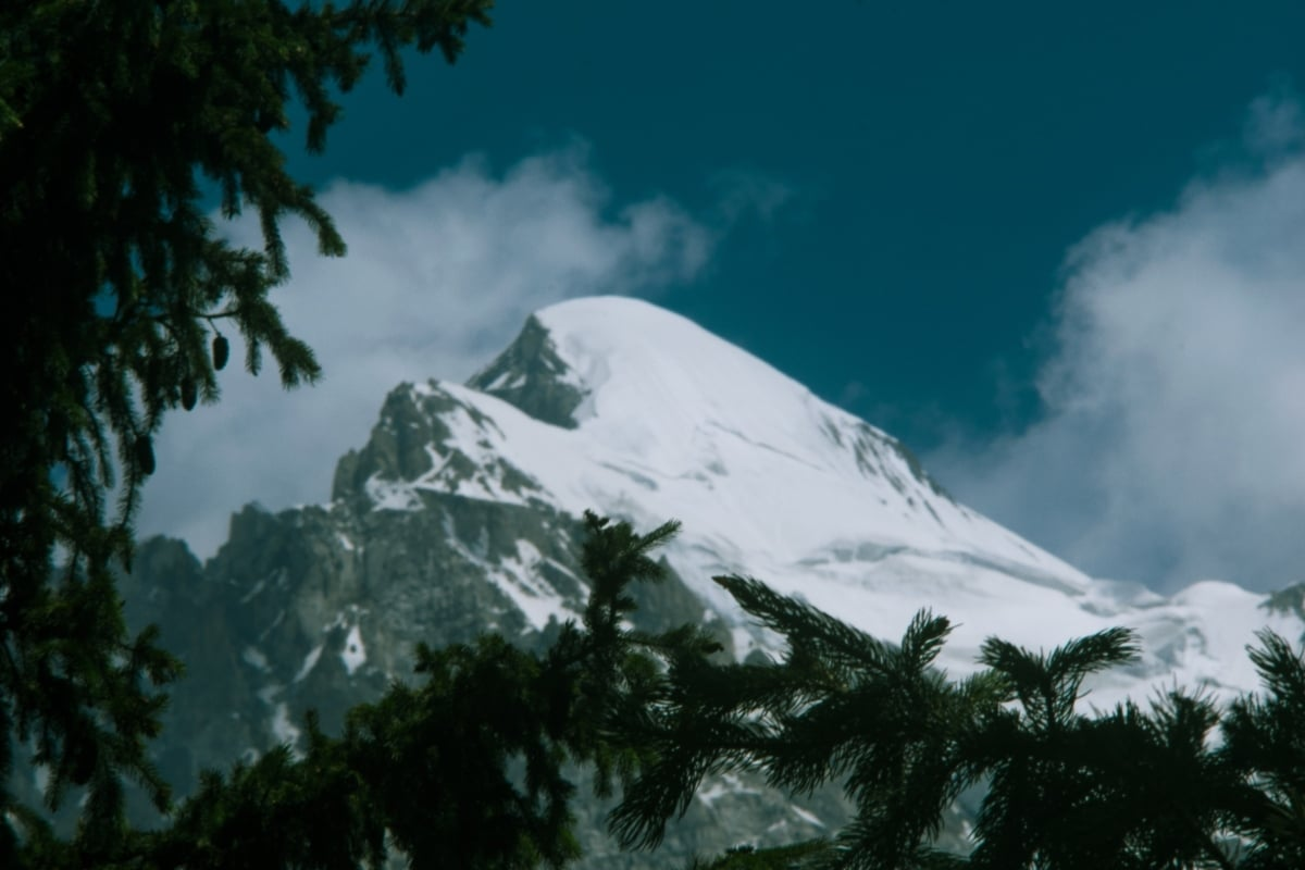 A snow-capped peak