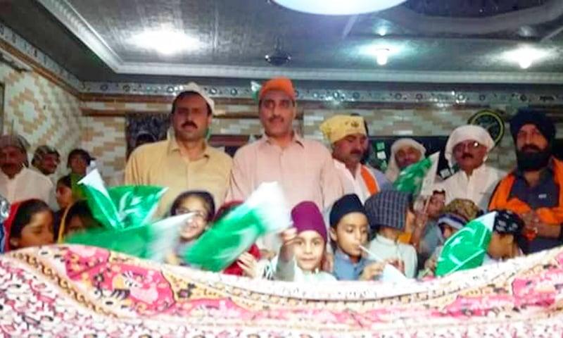 سوات کے ایک گرودوارے کی گزشتہ سال جشنِ آزادی کے موقع کی تصویر