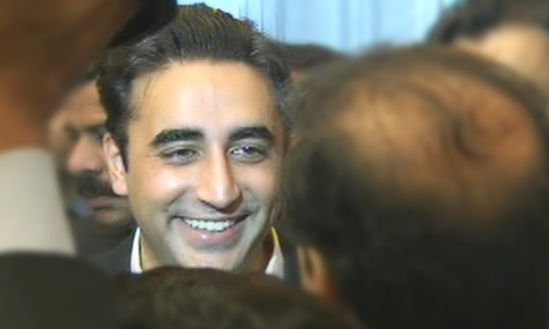First-time MNA Bilawal at the NA session. — DawnNewsTV