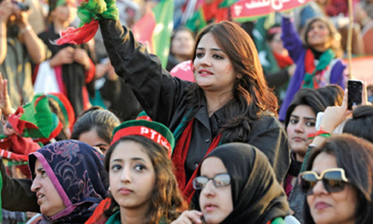 PTI supporters at a rally in Islamabad | Tanveer Shahzad