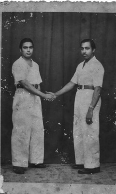 My paternal grandfather, Mohamad Yusoff Khan (right). On the left is Sher Khan, an entrepreneur who provided transportation services in one of the British air bases in Singapore.—Photo by author