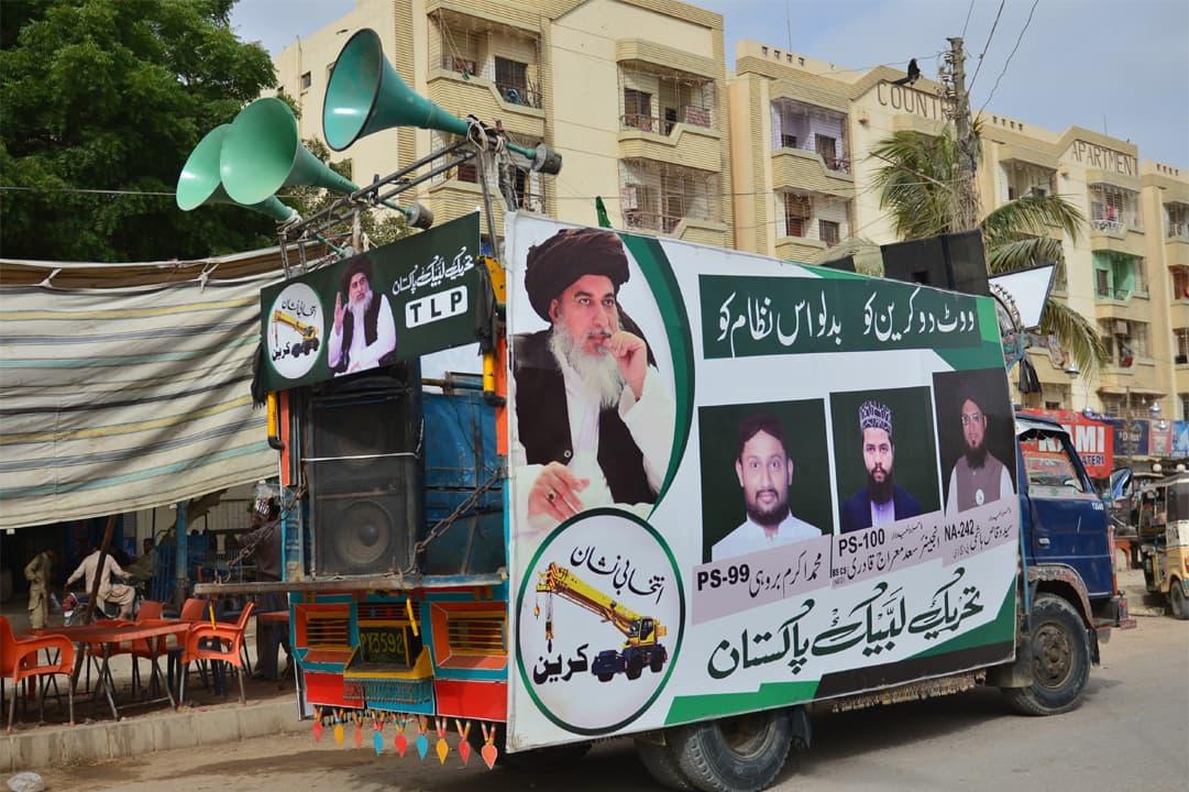 A Tehreek-e-Labbaik campaign truck | Faysal Mujeeb, White Star