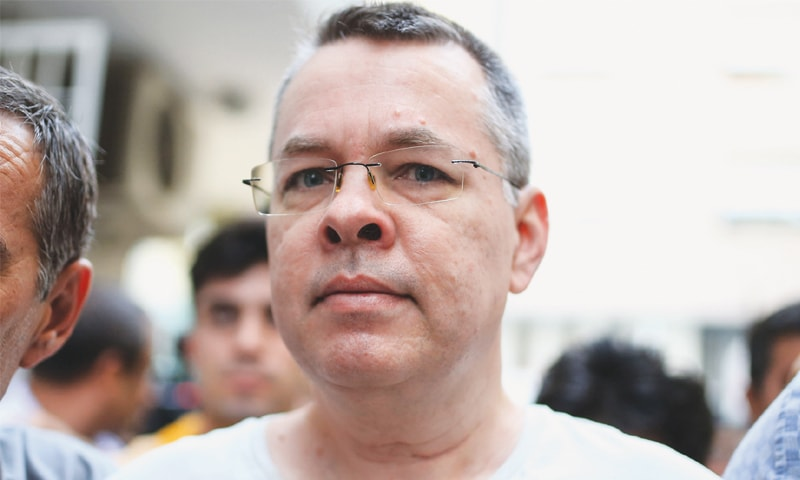 US pastor Andrew Brunson in this file picture taken on July 25.—AFP