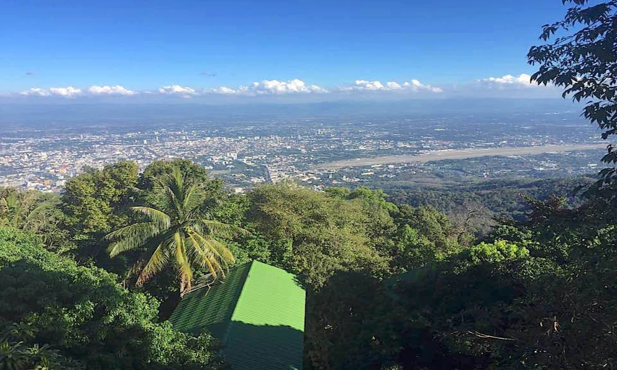 Overlooking Chiang Mai in Thailand