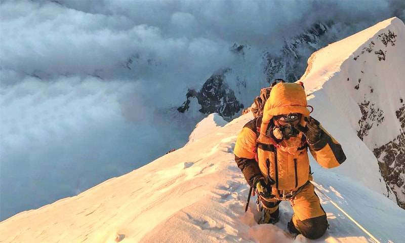 The final step towards the summit | Photo by Madison Mountaineering