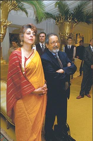 V.S. Naipaul and his wife Nadira