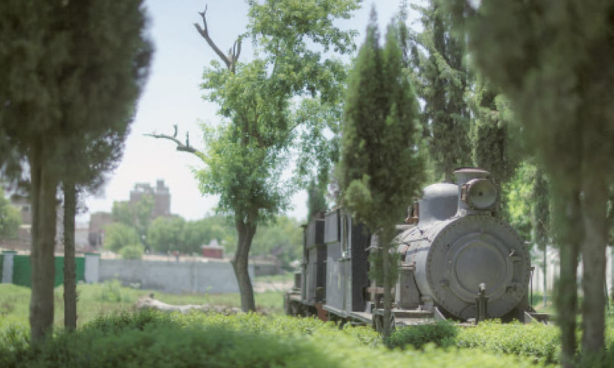 A decommissioned narrow-gauge train in a perfect condition | Photos by Kohi Marri