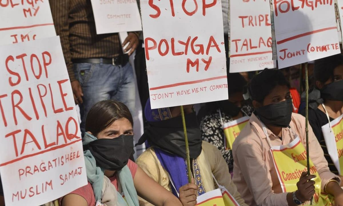 Activists protest triple talaq in India | Scroll.in