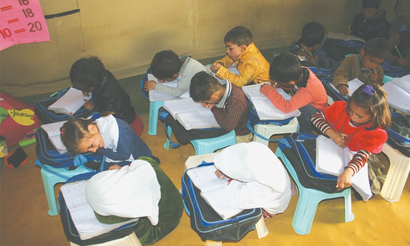 Students seem content to be in school despite the lack of facilities