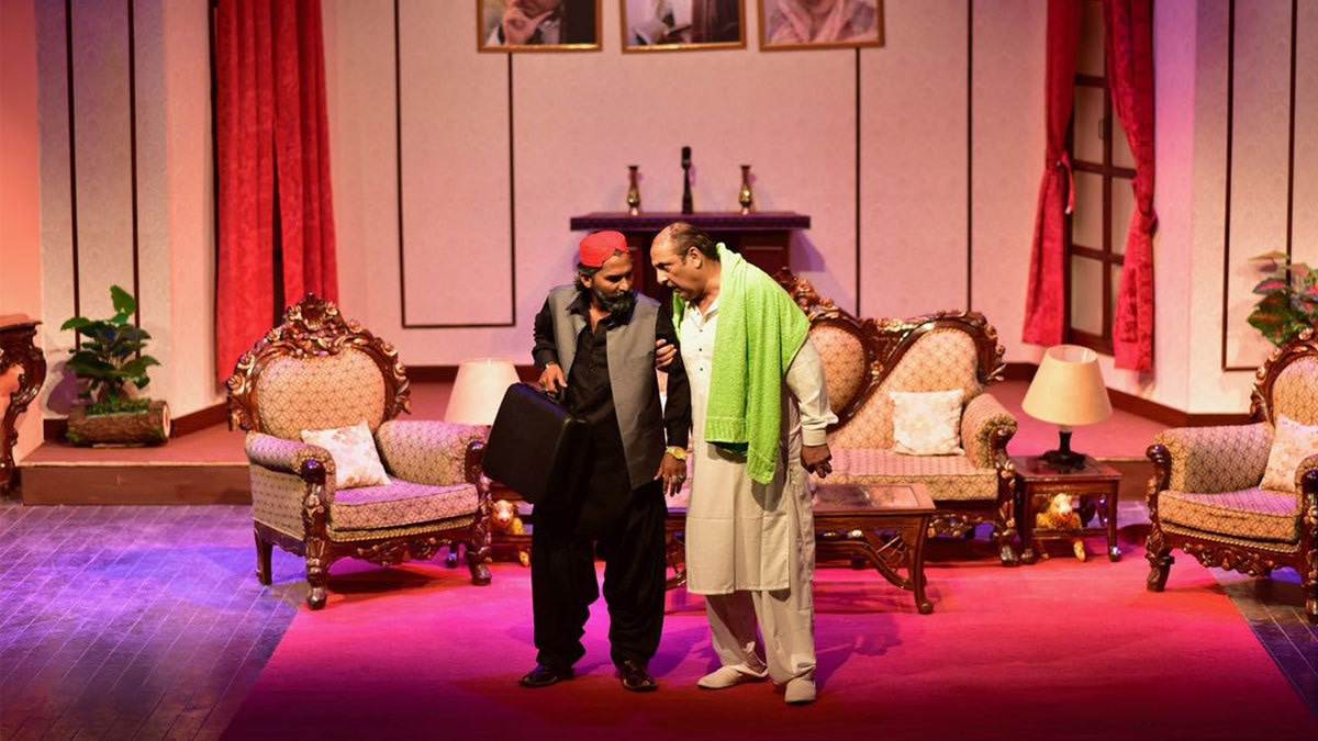 Sajid Hasan, as Chaudhry, holds center stage throughout the play