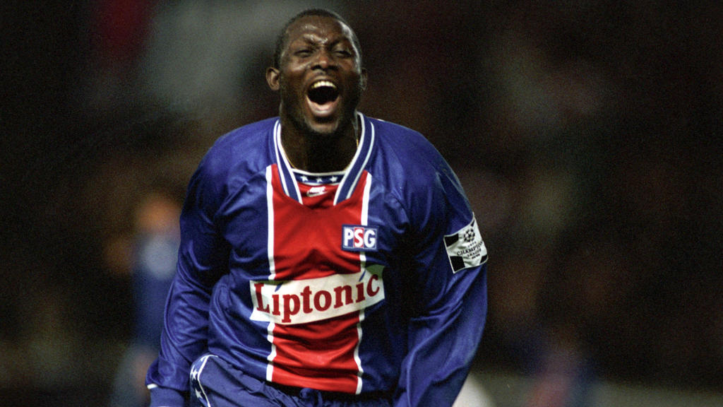 George Weah during his stint at PSG. — AFP