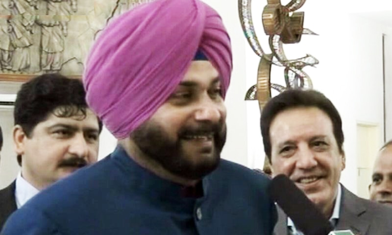 Sidhu draws criticism in India for visiting Pakistan and embracing Gen Bajwa