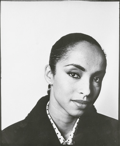 A photograph of Sade for Spex magazine in 1984