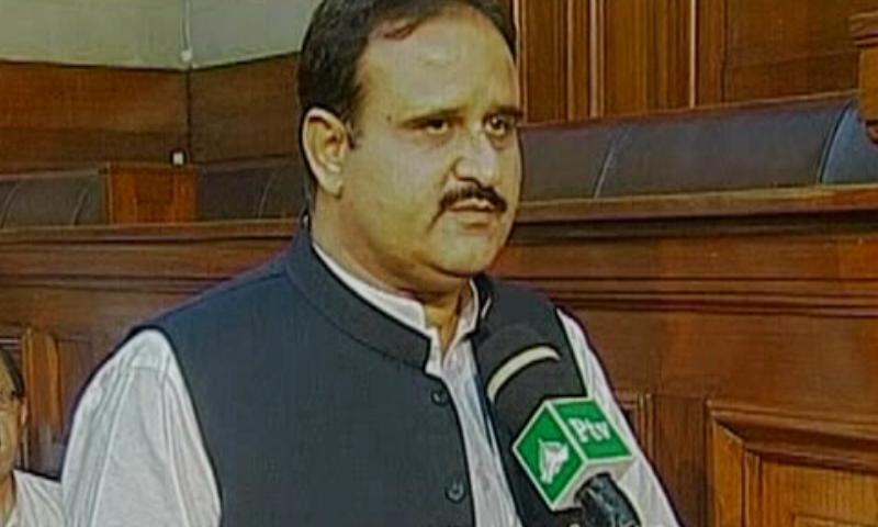 Punjab Chief Minister Usman Buzdar addressing the Punjab Assembly — DawnNewsTV